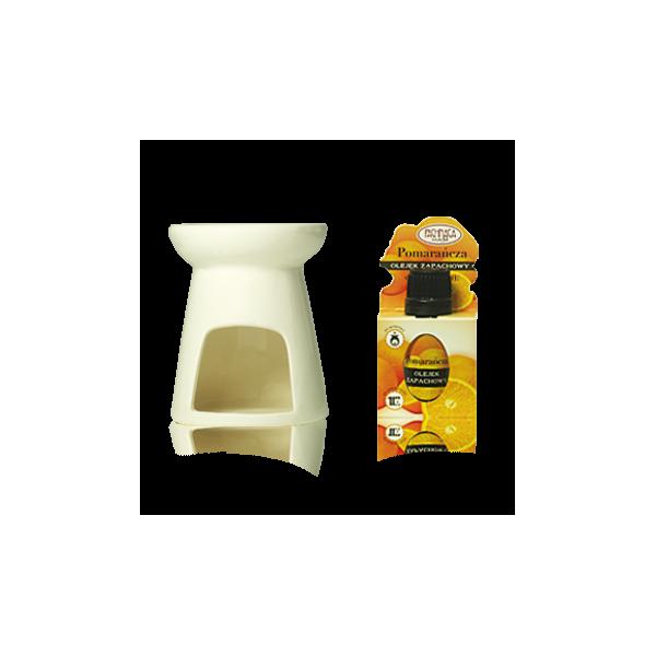 Kominek ceramiczny z olejkiem zapachowy Pomarańcza
