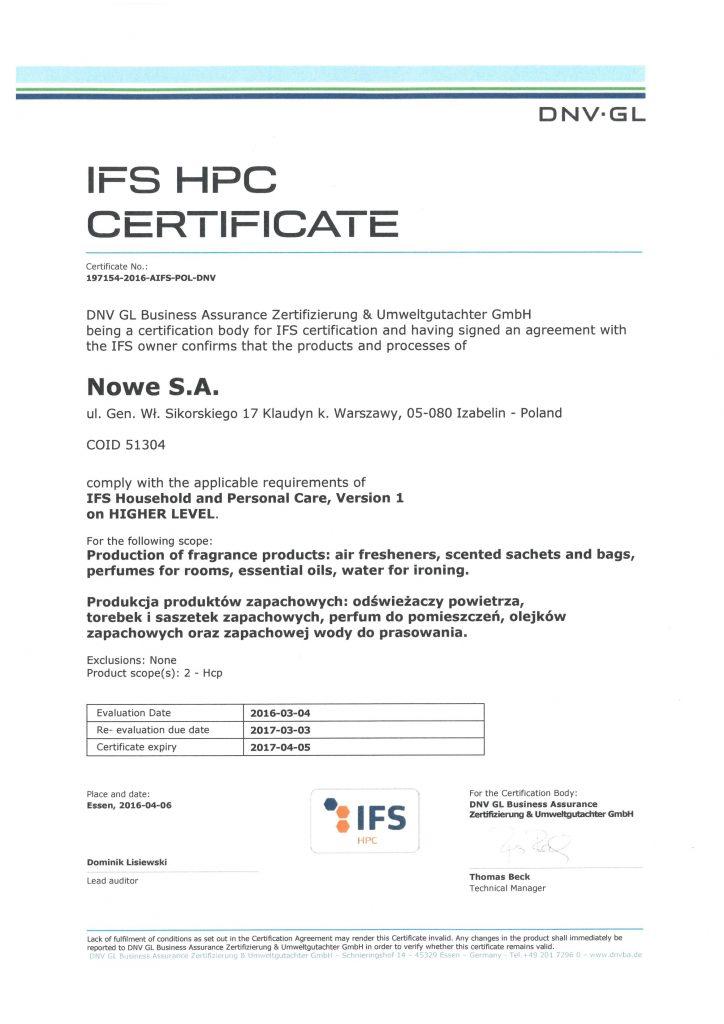 IFS certyfikat