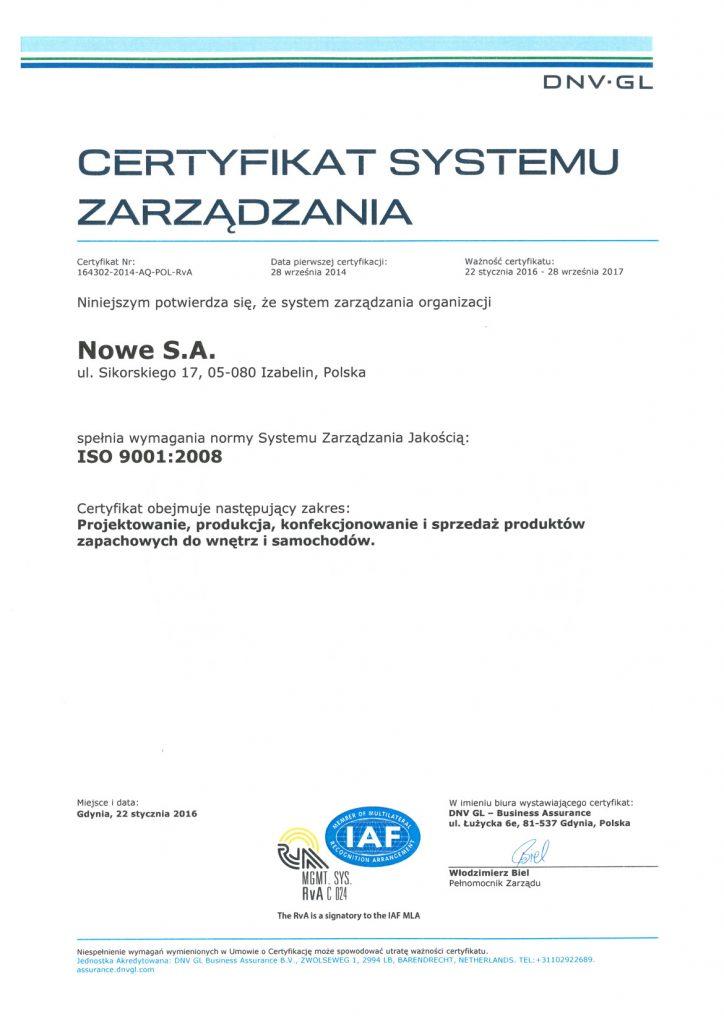 ISO-certyfikat